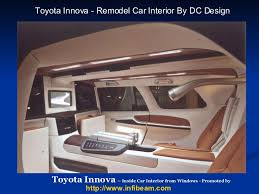 Car Modifications Interior Toyota Innova Desginer Car India Dilip Chhabria Dc Design