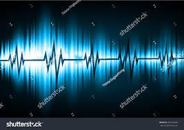 blue sound wave background suitable backdrop stock vector