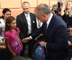 President Kiska visited Roma settlement met with a local athletic