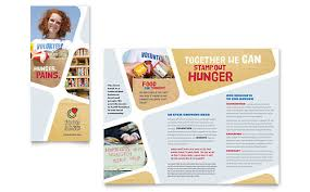 Volunteer Brochure Template by Food Bank Volunteer Brochure Template Design