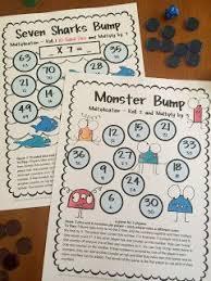 freebies printable multiplication bump games just print and
