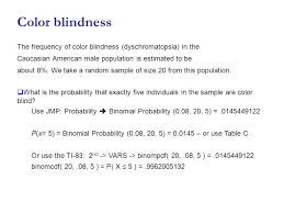 Binomial Probabilities Table 5 5 Distributions For Counts Binomial Distributions For Sample