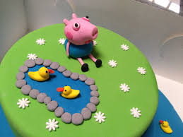 George Pig Cake Decorations Peppa Pig George Pig Childrens Birthday Cake Cakecentral Com