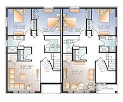 Multi Unit House Plans Multi Family Plan W3058 V1 Detail From Drummondhouseplans Com