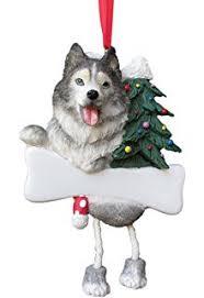sandicast siberian husky with santa hat