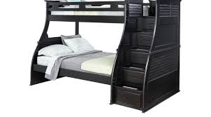 belmar black 4 pc twin full step storage bunk bed