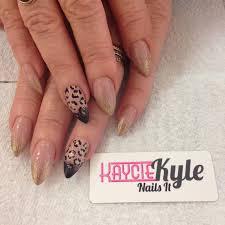 stiletto leopard print nail designs 2015 best nails design ideas