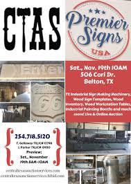 2016 november 19th premier signs business liquidation auction