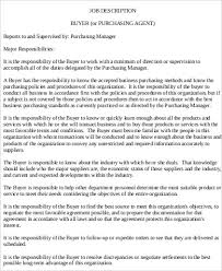 purchasing agent job description sample 7 examples in word pdf