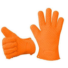 gant cuisine silicone gant de cuisine silicone anti chaleur orange achat vente gants