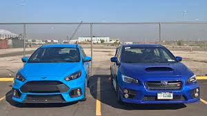 yellow subaru wrx ford focus rs vs subaru wrx sti a slightly biased one man