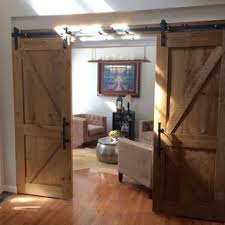 Reclaimed Wood Room Divider Hand Crafted Reclaimed Wood Barn Door Room Divider By Rustique