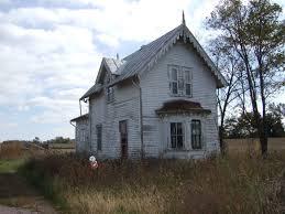 Farmhouse by Abandoned Farmhouse