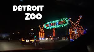 holiday lights tour detroit detroit zoo wild lights youtube