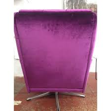 Purple Armchair Purple Armchair In Velvet And Steel 1970s Design Market