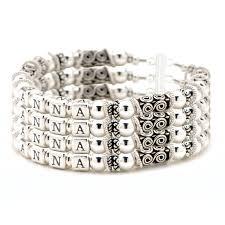 mothers bracelet personalized sterling silver bracelet 4 strand 4 names