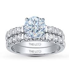 leo engagement rings leo bridal setting 1 ct tw diamonds 14k white gold jared the
