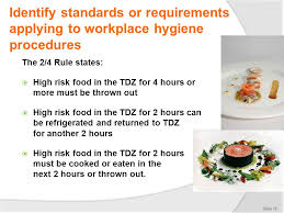 hygiene cuisine comply with workplace hygiene procedures ppt