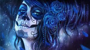 Doge Live Wallpaper by Brunette Day Of The Dead Dia De Los Muertos Flower Makeup Piano