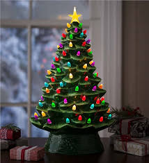 ceramic christmas tree lighted ceramic christmas tree battery operated lighting