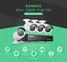 home images hd sannce 4ch 1080p poe nvr hd home security system w 4 indoor
