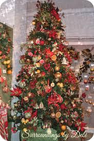tree ornaments fruit vintage tinsel kitschy fruit
