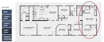 master suite floor plan 3 manufactured and modular homes with two master suites clayton