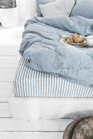 striped in blue and white linen bedding u2013 magiclinen
