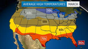 I Am America Map by Monthly Average Temperatures Weather Com