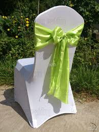Green Chair Covers Light Green Apple Green Satin Chair Sash Bow Ribbon Wedding Party