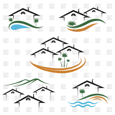house outline outline of house or apartments icon for real estate vector clipart
