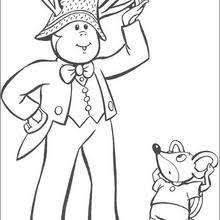 Noddy Scares Away A Lion Coloring Pages Hellokids Com Coloring Scares