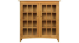 Wooden Bookcase With Doors Circle Furniture Solid Wood Bookcase Bookcases Furniture