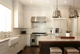 Two Tone Cabinets Kitchen Excellent Two Tone Style Kitchen With Cream Color Wooden Kitchen