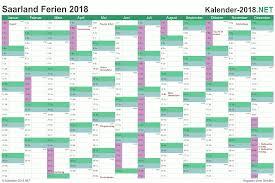 Kalender 2018 Mit Feiertagen Saarland Ferien Saarland 2018 Ferienkalender übersicht