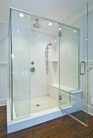 24 best corner steam shower cabins images on pinterest steam fantastic bathroom shower with white arabesque tile shower surround rain shower head and shower bench