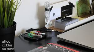 keep cables on desk maco magnetic cable organiser indiegogo