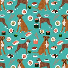 boxer dog umbrella boxer dog sushi themed fabric dogs pattern design turquoise