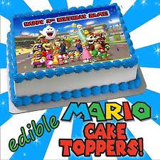 mario cake mario cake toppers ebay