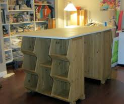 build a craft table craft table with storage cubes in supple side storage plus drawers