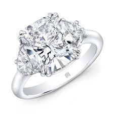 3 engagement ring carat cushion cut 3 diamond engagement ring platinum