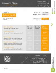 Illustration Invoice Template Modern Invoice Template Sample Bookkeeping Resume