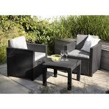 canape de jardin en resine tressee pas cher salon de jardin 2 places aspect rotin tressé gris