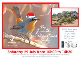 welcome to birdlife south africa christmas in july