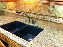 furniture oak kitchen cabinets with merola tile backsplash and