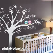 Nursery Wall Tree Decals Baby Nursery Decor Stickers Baby Nursery Tree Wall Decals Simple
