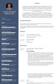 Teradata Sample Resume by Systems Analyst Resume Samples Visualcv Resume Samples Database