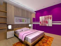purple wall paint decoration bedstead wooden laminate flooring