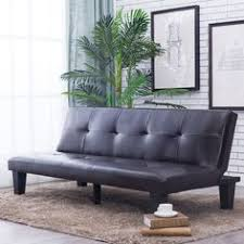 abbyson living jackson dark brown leather foldable futon sofa bed