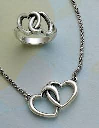 heart ring necklace images Linked hearts ring and double heart linked necklace jamesavery jpg